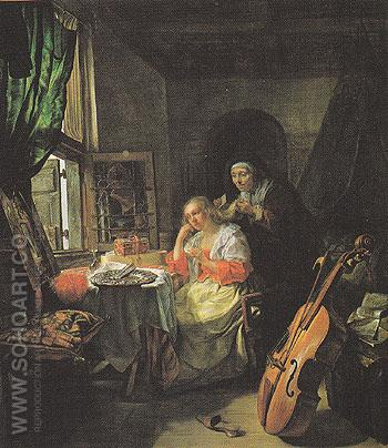 Woman at her Toilette c1658 - Gabriel Metsu reproduction oil painting