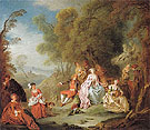Fete Champetre c1730 - Jean Baptiste Pater reproduction oil painting