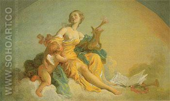 Music c1760 - Jean-Honore Fragonard reproduction oil painting