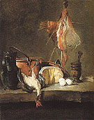 Still Life with a Ray and Chicken - Jean Simeon Chardin