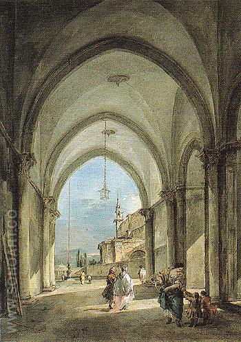 Venetian Capriccio c1760 - Francesco Guardi reproduction oil painting