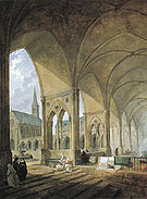 The Cloister of the Augustinian Nuns - Hubert Robert