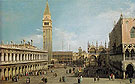 The Piazzetta Venice Looking North 1755 - Giovanni Antonio Canal Canaletto