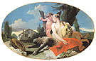 Female Satyr with House Child and a Putto c1740 - Giovanni Barrista Tiepolo