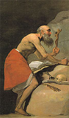 Saint Jerome in Penitence 1798 - Francisco de Goya ya Lucientes reproduction oil painting