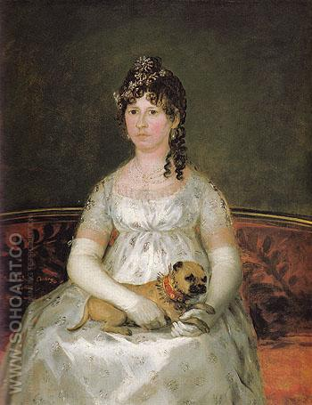 Portrait of Dona Francisca Vicenta Chollet Y Caballero 1806 - Francisco de Goya ya Lucientes reproduction oil painting