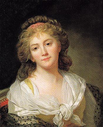Self Portrait - Marie Genevieve Bouliar reproduction oil painting