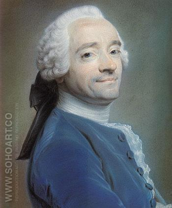 Self Portrait 1764 - Maurice Quentin de La Tour reproduction oil painting