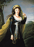 Portrait of Theresa Countess Kinsky 1793 - Elisabeth Vigee Le Brun reproduction oil painting