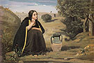 Rebecca at the well 1839 - Jean-baptiste Corot reproduction oil painting