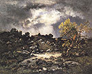The Approaching Storm 1870 - Narcisse Virgile Diaz de la Pena reproduction oil painting