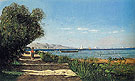 Landscape in Martigues 1869 - Paul Camille Guigou reproduction oil painting
