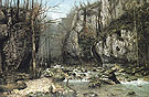 Stream of the Puits Noir at Ornans 1868 - Gustave Courbet reproduction oil painting