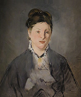 Portrait of Madame Manet 1866 - Edouard Manet reproduction oil painting