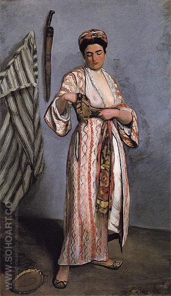 Woman in Moorish Costume 1869 - Frederic Bazille reproduction oil painting