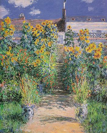 The Artists Garden at Vetheuil 1881 - Claude Monet reproduction oil painting