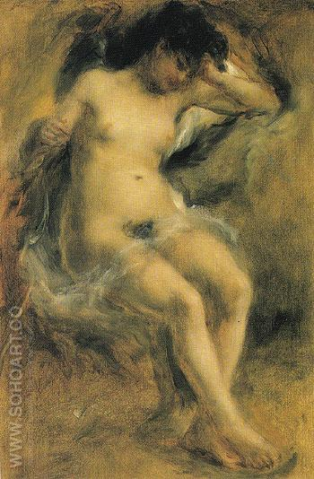 Nude 1872 - Pierre Auguste Renoir reproduction oil painting