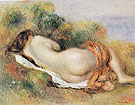 Reclining Nude c1890 - Pierre Auguste Renoir reproduction oil painting