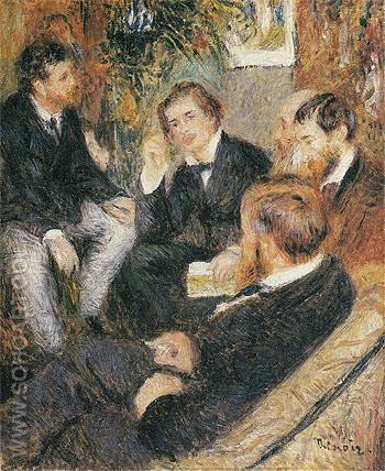 The Artists Studio Rue Saint Georges 1876 - Pierre Auguste Renoir reproduction oil painting