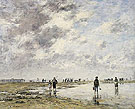 Figures on the Beach 1886 - Eugene Boudin