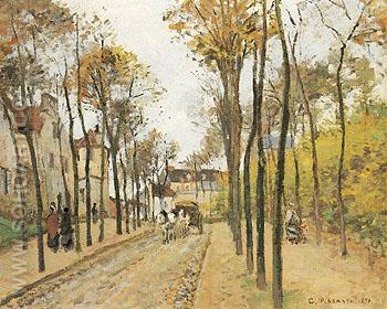 The Boulevard Des Fosses Pontoise 1872 - Camille Pissarro reproduction oil painting