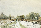Louveciennes in the Snow 1872 - Alfred Sisley reproduction oil painting