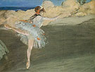 The Star Dancer on Point c1877 - Edgar Degas reproduction oil painting