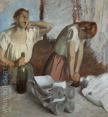 The Ironers c1884 - Edgar Degas reproduction oil painting