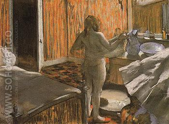 Woman at her Toilette c1886 - Edgar Degas reproduction oil painting