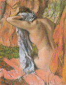After the Bath 1885 - Edgar Degas reproduction oil painting