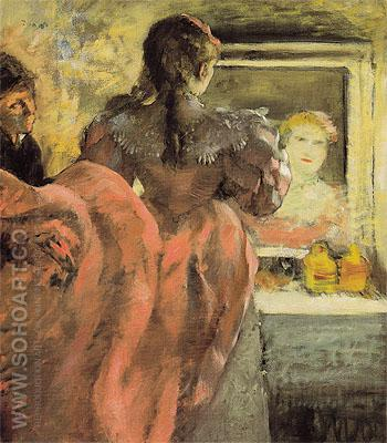 Actress in Her Dressing Room c1878 - Edgar Degas reproduction oil painting