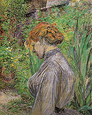 Red Headed Woman in the Garden of Monsieur Foret 1889 - Henri De Toulouse-lautrec reproduction oil painting