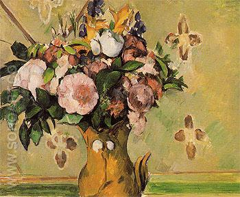 Vase of Flowers c1879 - Paul Cezanne reproduction oil painting
