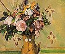 Vase of Flowers c1879 - Paul Cezanne reproduction oil painting