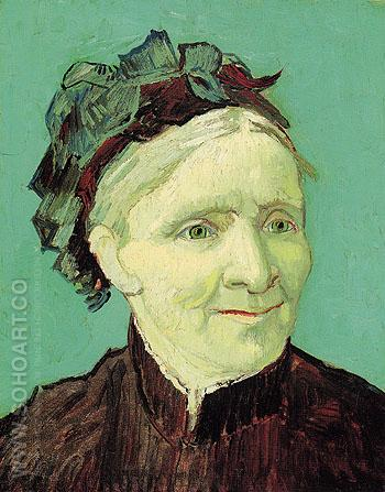 Portrait of the Artists Mother 1888 - Vincent van Gogh reproduction oil painting