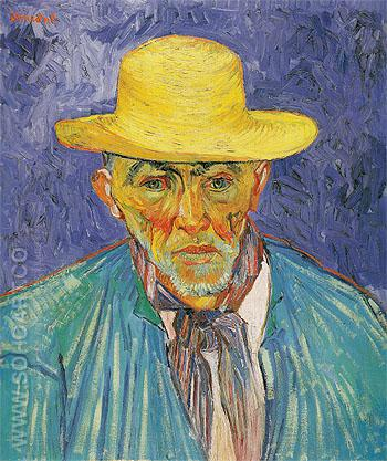 Portrait of a Peasant 1888 - Vincent van Gogh reproduction oil painting
