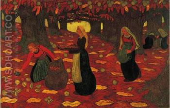 The Chestnut Gatherers 1892 - Georges Lacombe reproduction oil painting