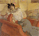 Portrait of Madame Hessel c1900 - Edouard Vuillard reproduction oil painting
