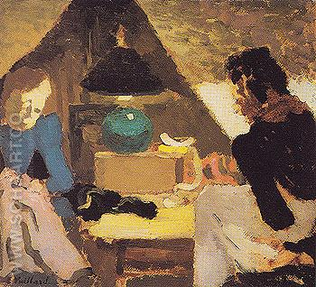 Dressmakers Under the Lamp - Edouard Vuillard reproduction oil painting