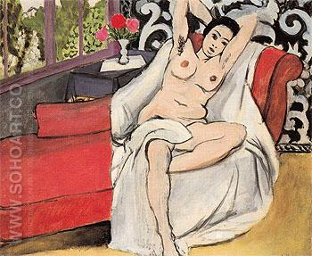 Nude on a Sofa 1923 - Henri Matisse reproduction oil painting