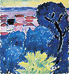 Black Tree Bordighera 1914 - Alexei von Jawlensky