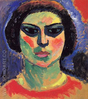 Blossoming Girl c1911 - Alexei von Jawlensky reproduction oil painting