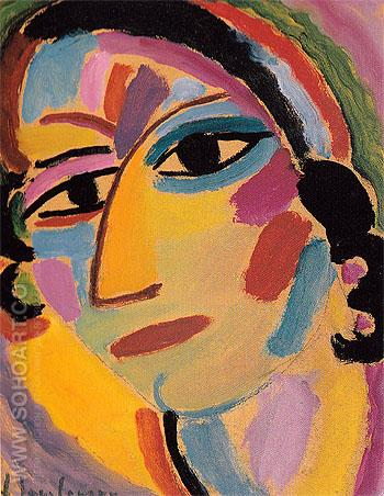 Mystic Head No 21 Galka 1917 - Alexei von Jawlensky reproduction oil painting