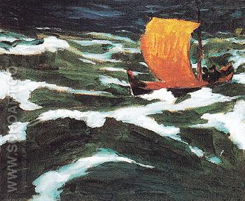 The Sea I 1912 - Emile Nolde reproduction oil painting