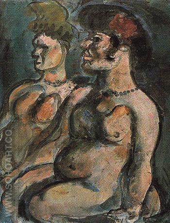 Two Nudes c1906 - George Rouault reproduction oil painting