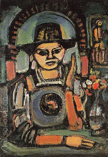 The Chinese Man 1937 - George Rouault reproduction oil painting