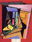 Still Life with a Poem 1915 - Juan Gris