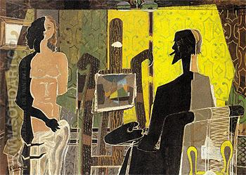 Artist and Model 1939 - Georges Braque reproduction oil painting