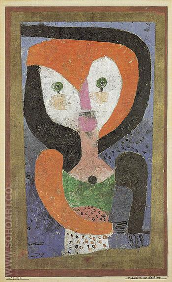 Maid of Saxony 1922 - Paul Klee reproduction oil painting