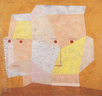 Two Heads 1932 - Paul Klee reproduction oil painting